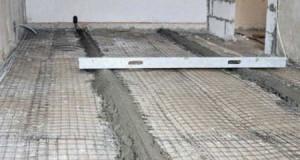 Технология заливки цементной стяжки пола